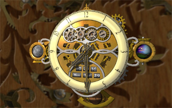 Cogs clock screensaver