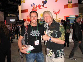 Charles Martinet at the Nintendo booth